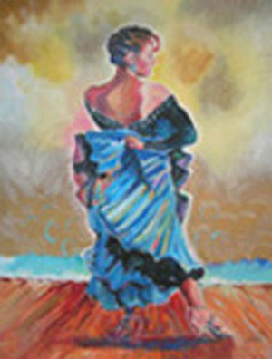 """Dancer"" Painting by Beth Amine"