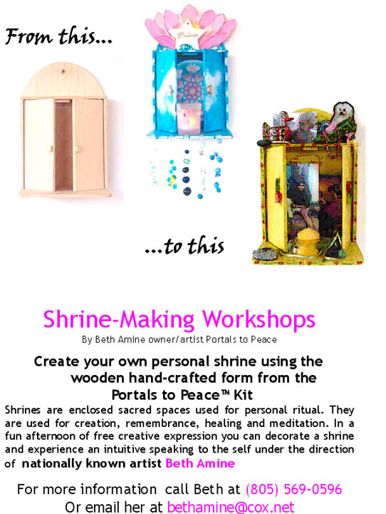 Shrine-Making Workshop in Santa Barbara with Beth Amine on May 12th & May 20th 2007