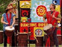 Dancing Drum performs at Oak Park in Santa Barbara