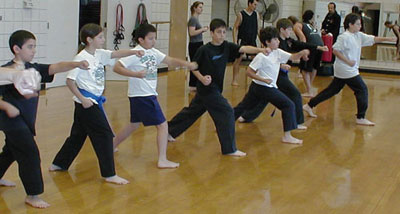 Group Kata Forms, Martial Arts for Chidren and Families in Santa Barbara
