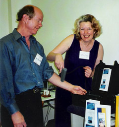 Dr. Dan Staso & Birgitta Hansson at a recent Santa Barbara Wellness Expo