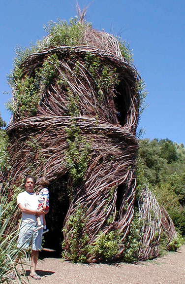 Green Building in Santa Barbara; Twig Castle at the Botanic Gardens