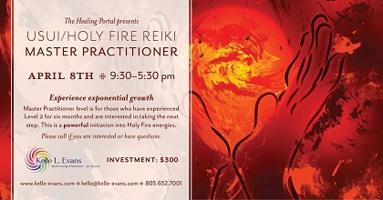 Usui/Holy Fire Reiki Master Practitioner Training in Ventura