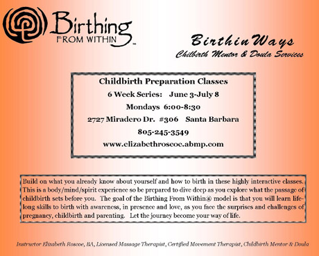Natural Birthing classes in Santa Barbara