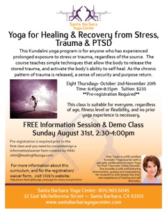 Yoga for Healing & Recovery  Workshop in Santa Barbara